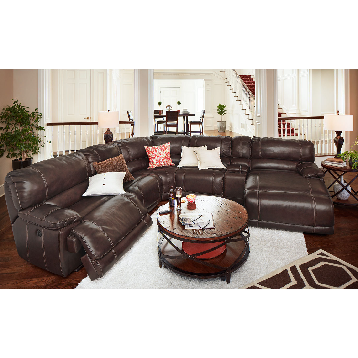 Trendy Denali Charcoal Grey 6 Piece Reclining Sectionals With 2 Power Headrests Throughout Power Sectional – Tidex (View 17 of 20)