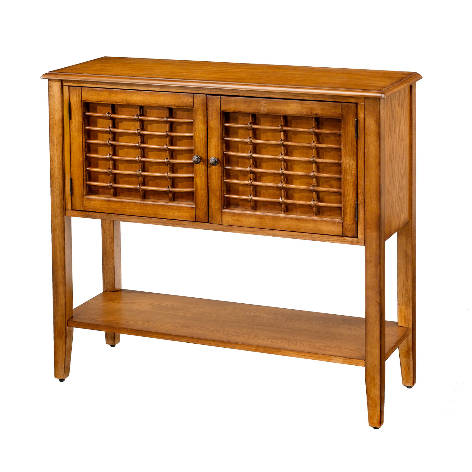 Trendy Hillsdale Furniture Bayberry Oak Sideboard Buffet 100016 100026 For Amos Buffet Sideboards (View 5 of 20)