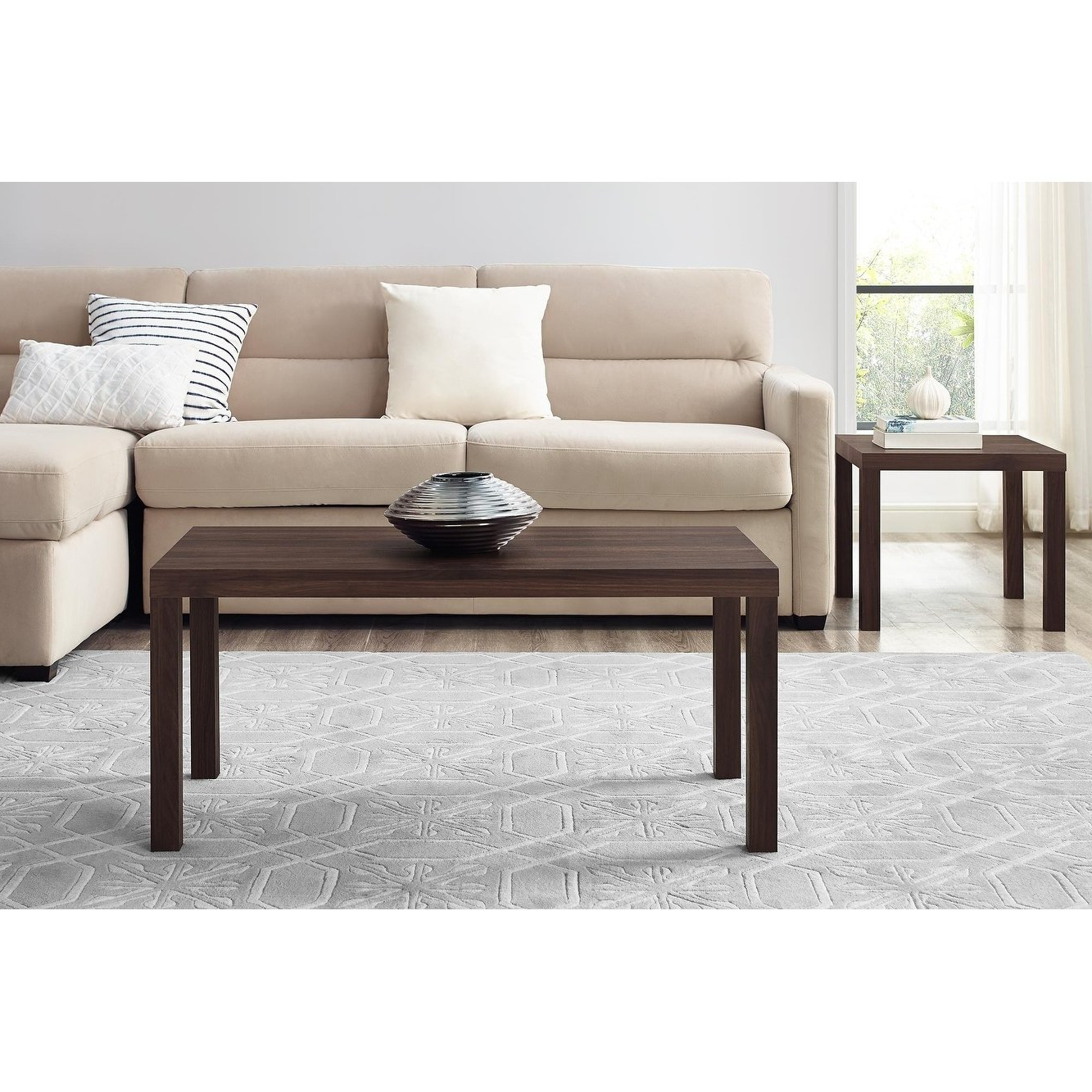 Trendy Jaxon Cocktail Tables Within Shop Avenue Greene Jaxon Walnut Coffee Table – Free Shipping Today (View 20 of 20)