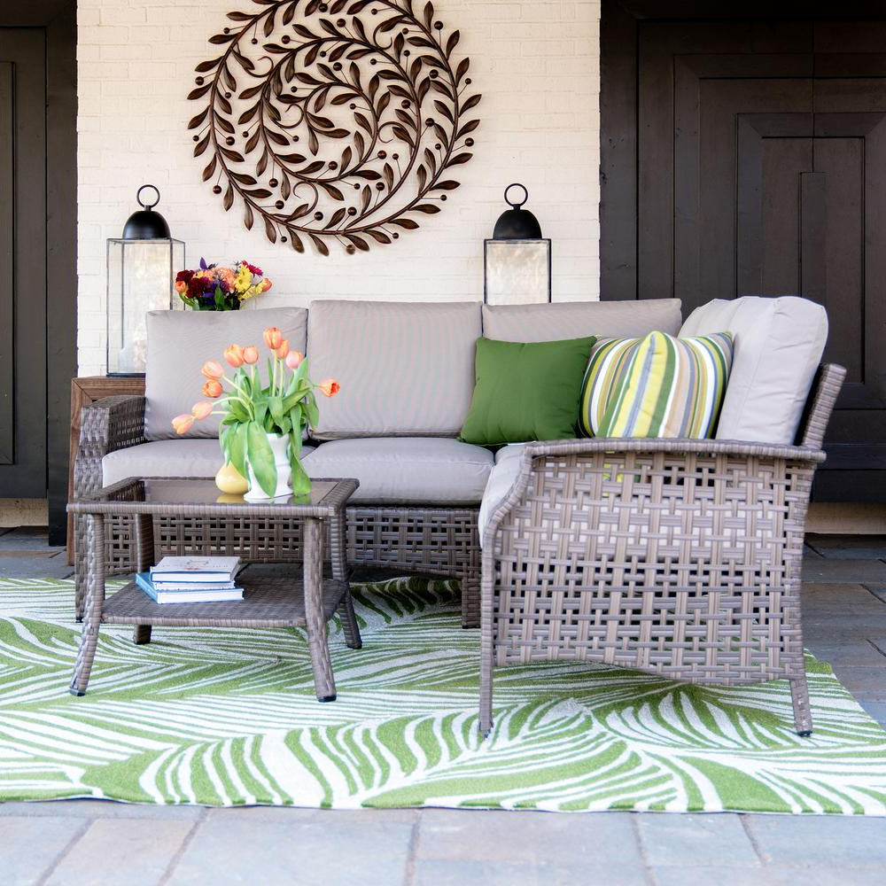 Trendy Leisure Made Concord 4 Piece Wicker Outdoor Sectional Set With Tan For Haven Blue Steel 3 Piece Sectionals (View 19 of 20)