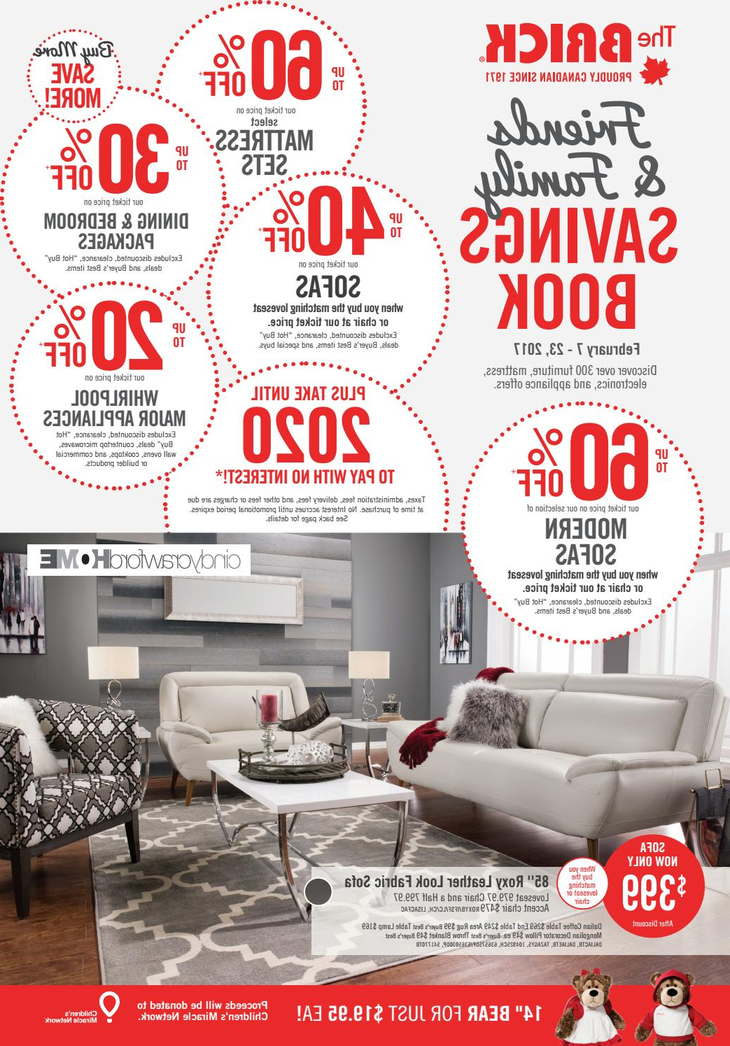 Trendy London Optical Reversible Sofa Chaise Sectionals Within Publisac 2017 Flyer (Brick_Wk7_Queen)Salewhale – Issuu (Gallery 3 of 20)