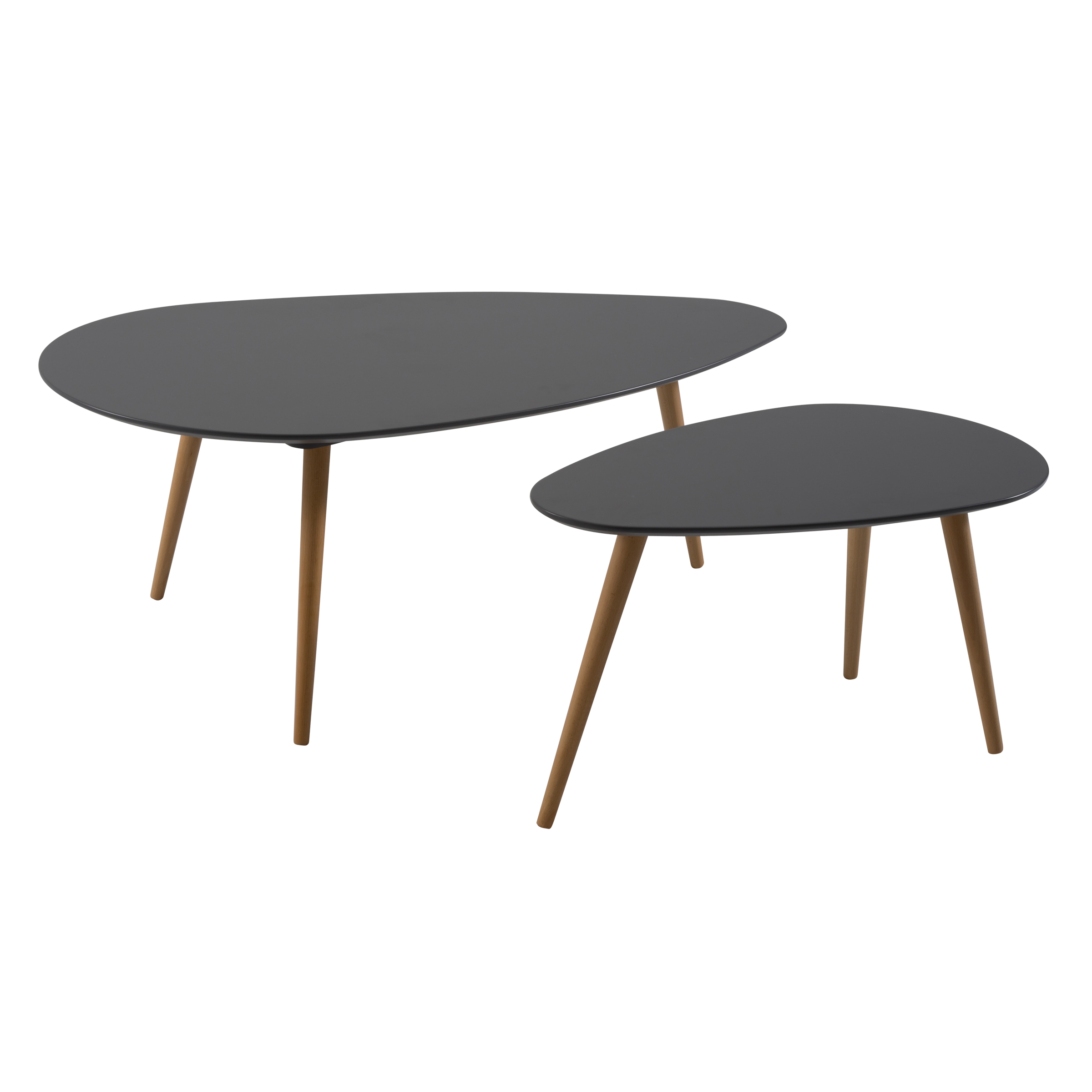 Trendy Nord Nest Coffee Table Set Throughout Set Of Nesting Coffee Tables (View 5 of 20)