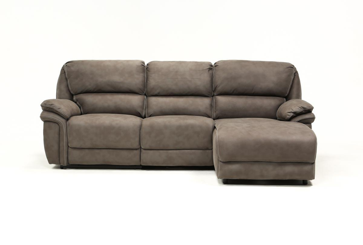 Trendy Norfolk Grey 3 Piece Sectional W/laf Chaise (Gallery 1 of 20)