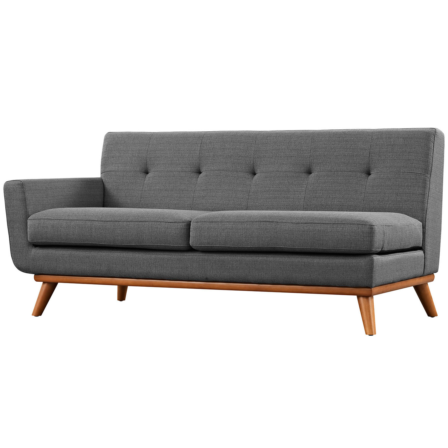 Trendy Norfolk Grey 6 Piece Sectionals Inside Modway Furniture Engage L Shaped Sectional Sofa In Gray Eei 2108 Dor (View 19 of 20)
