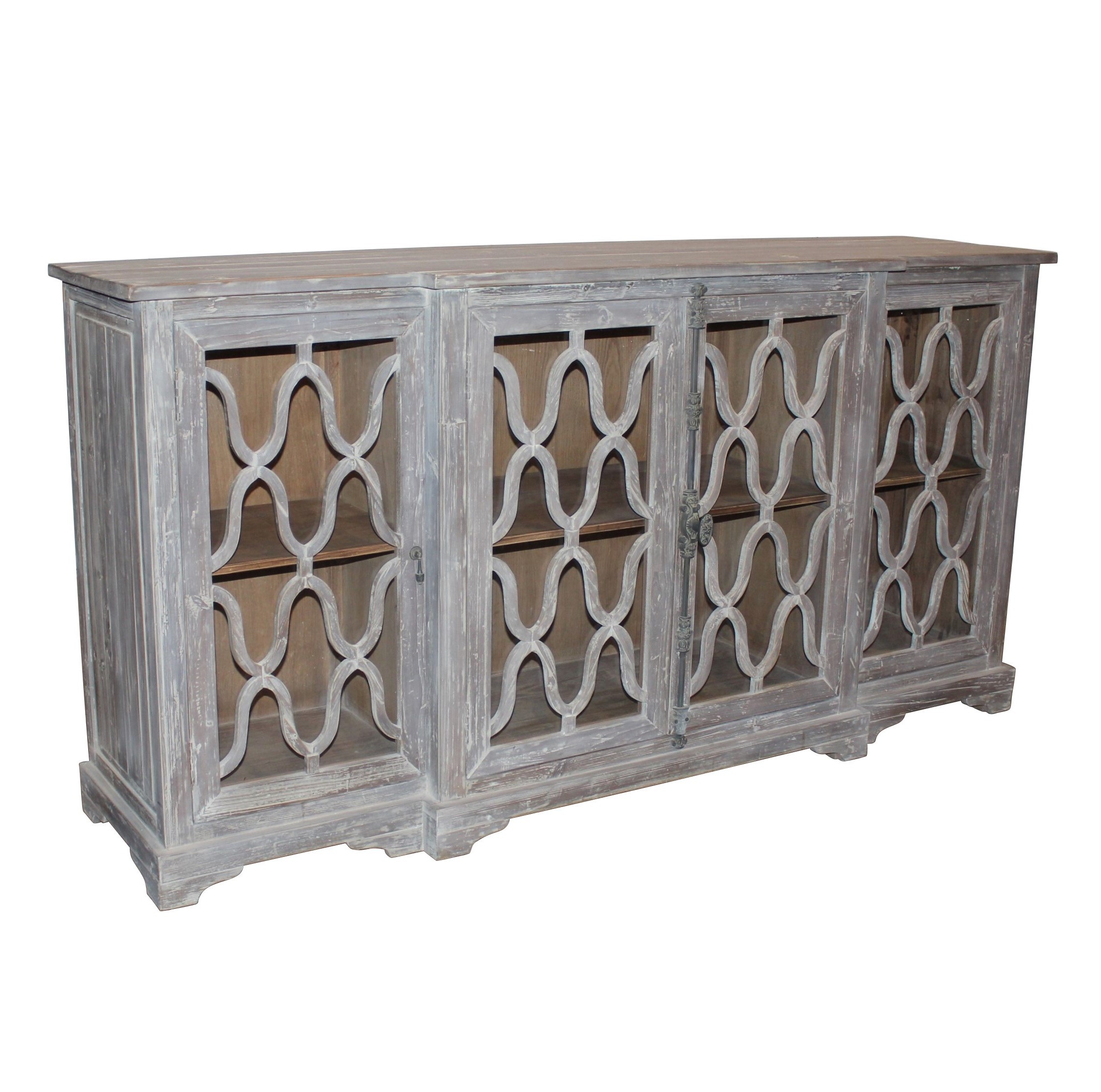 Trendy Reclaimed Pine & Iron 4 Door Sideboards With Regard To Quincy Sideboard – White X White – Antique And Fine Decor For The Home (View 5 of 20)
