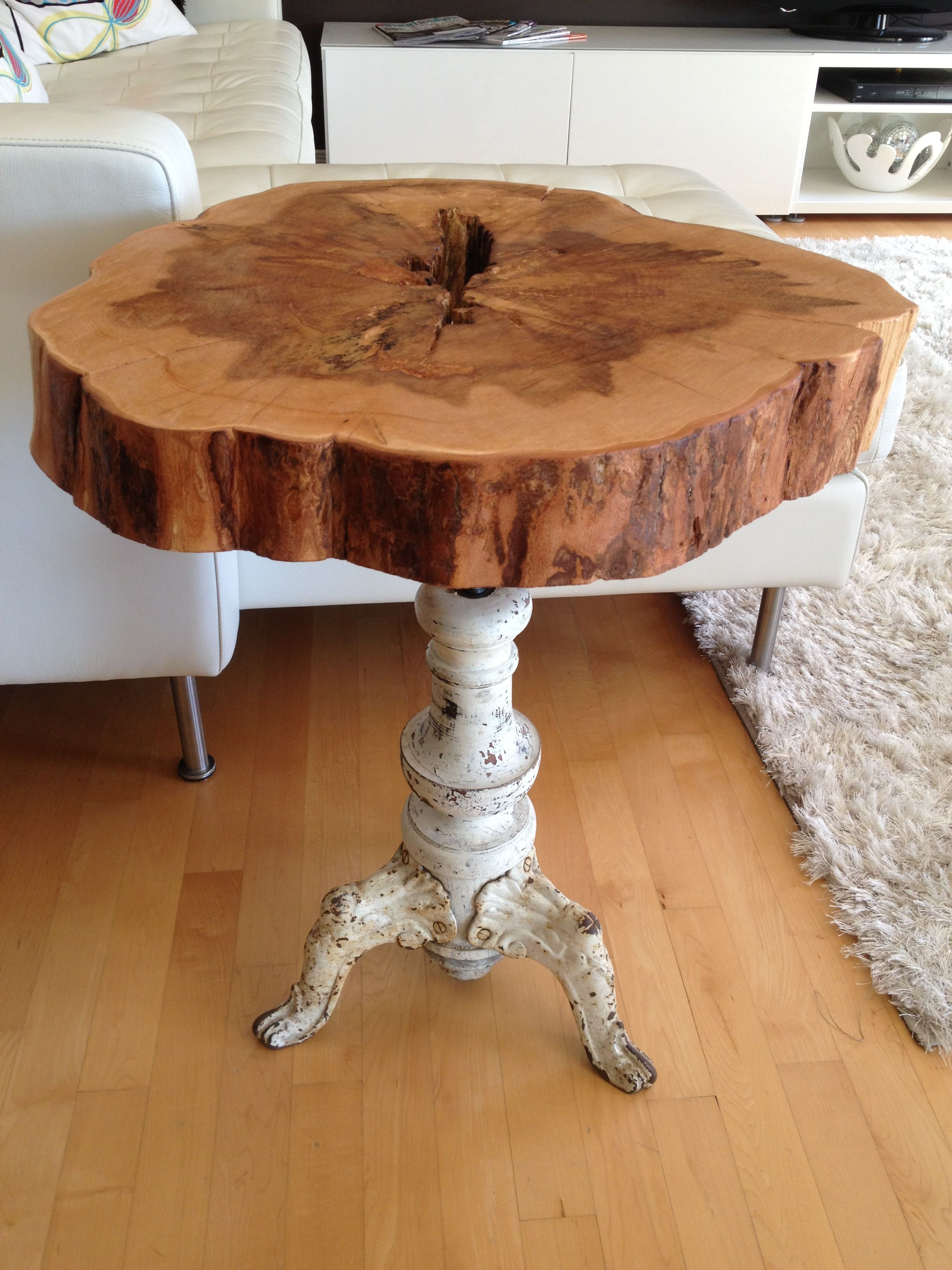 Trendy Recycled Pine Stone Side Tables Pertaining To Diy Tree Stump Table Ideas & How To Make Them (View 16 of 20)