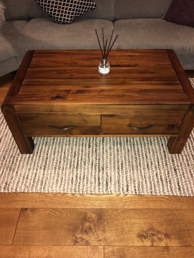 Trendy Rotherwood Walnut 4 Drawer Coffee Table (View 17 of 20)