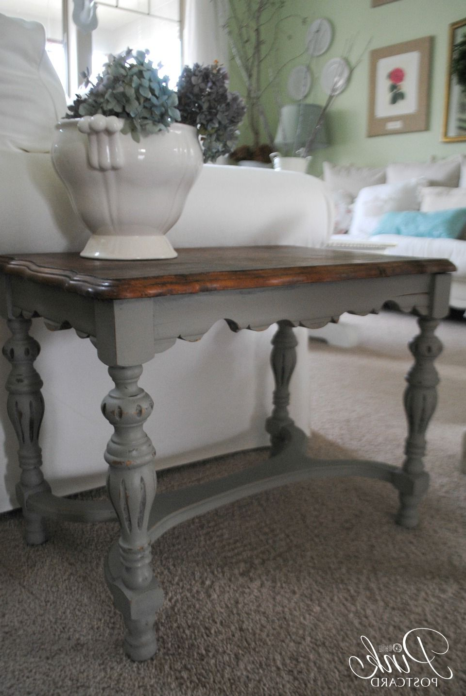 Trendy Round White Wash Brass Painted Coffee Tables Regarding Pinkpostcard (View 16 of 20)
