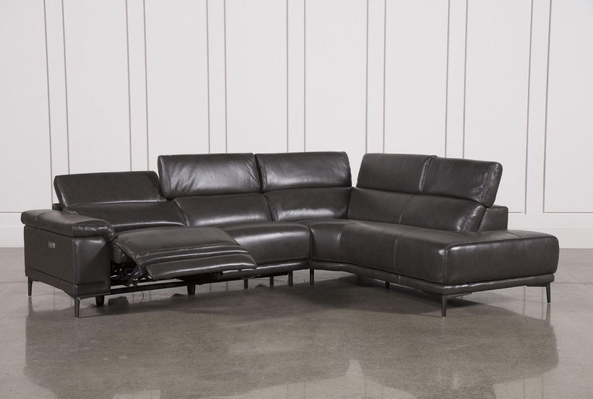 Trendy Tatum Dark Grey 2 Piece Sectional W/laf Chaise –  (View 19 of 20)