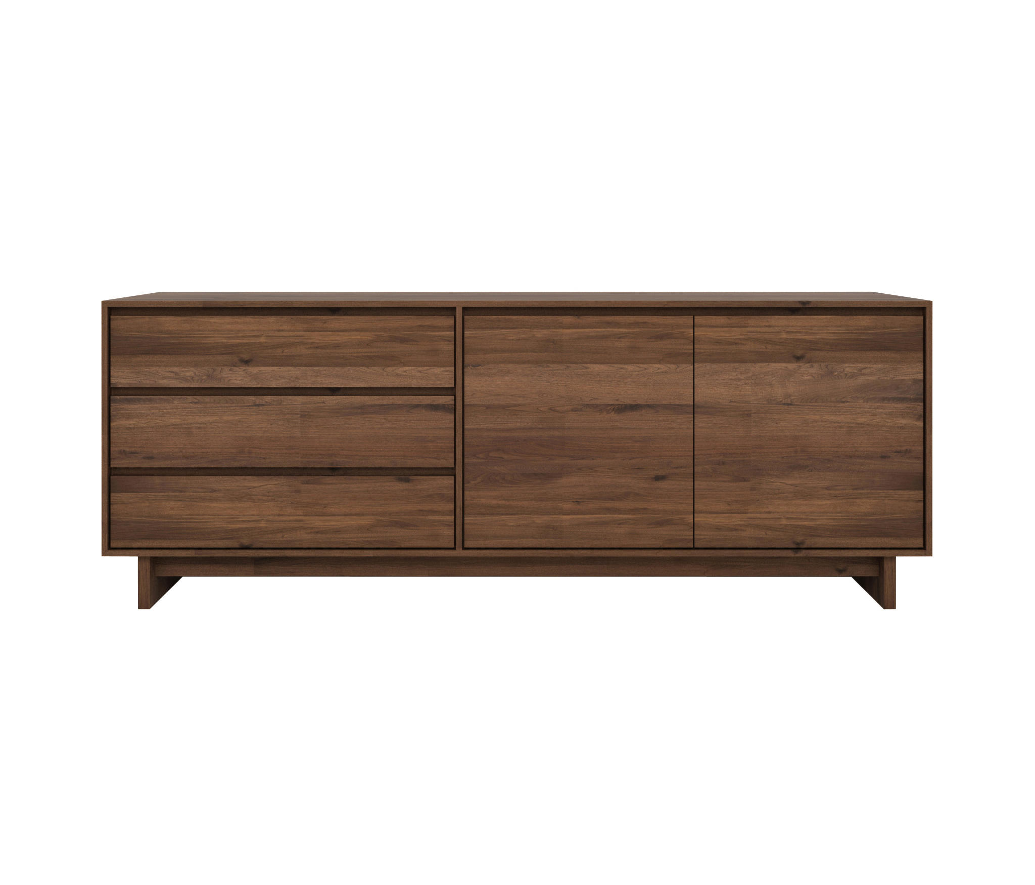 Trendy Walnut Finish 2 Door/3 Drawer Sideboards With Walnut Wave Sideboard – Sideboards From Ethnicraft (View 13 of 20)
