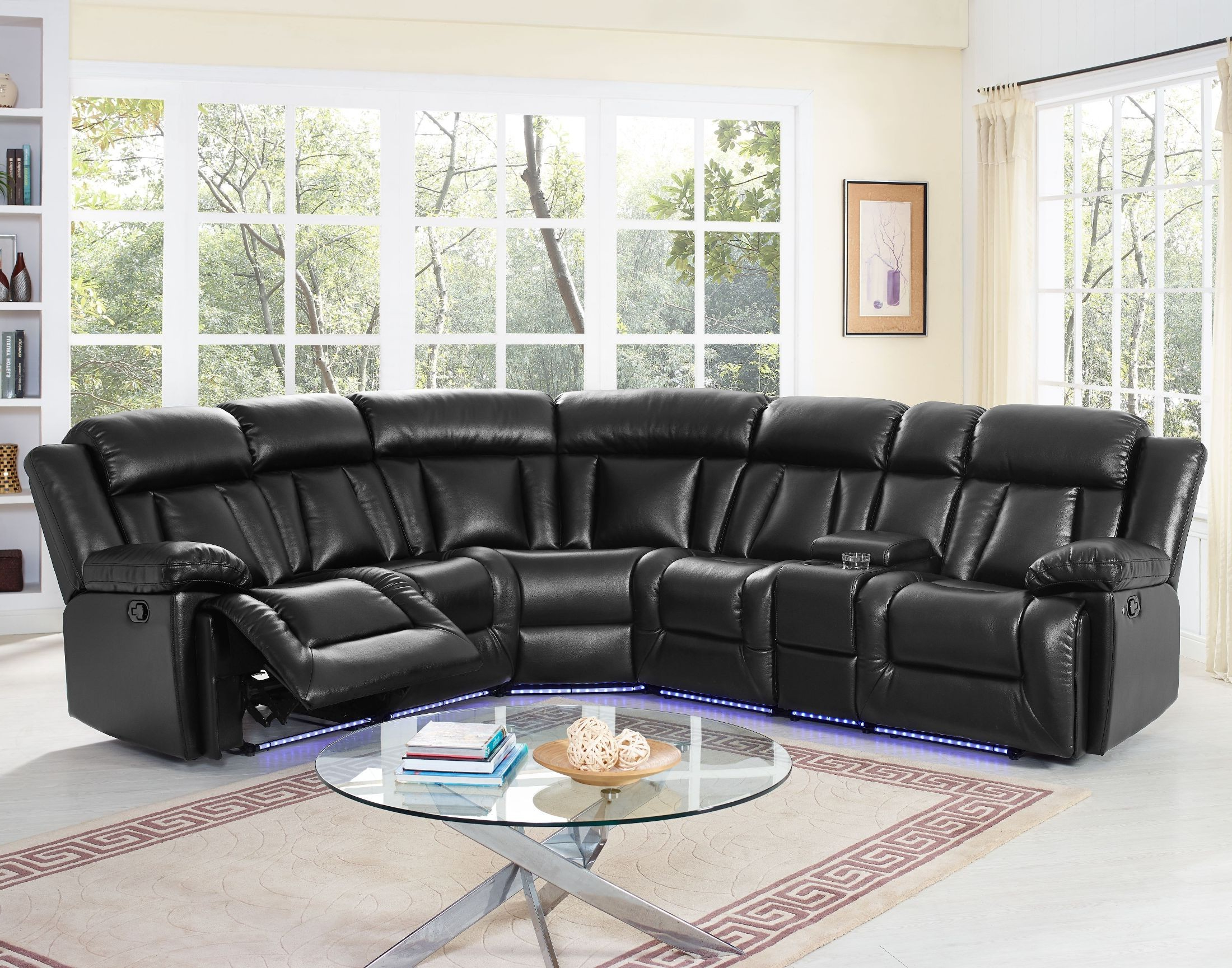 Turdur 2 Piece Sectionals With Laf Loveseat For Fashionable Starlight Premier Black Sectional From New Classic (View 3 of 20)