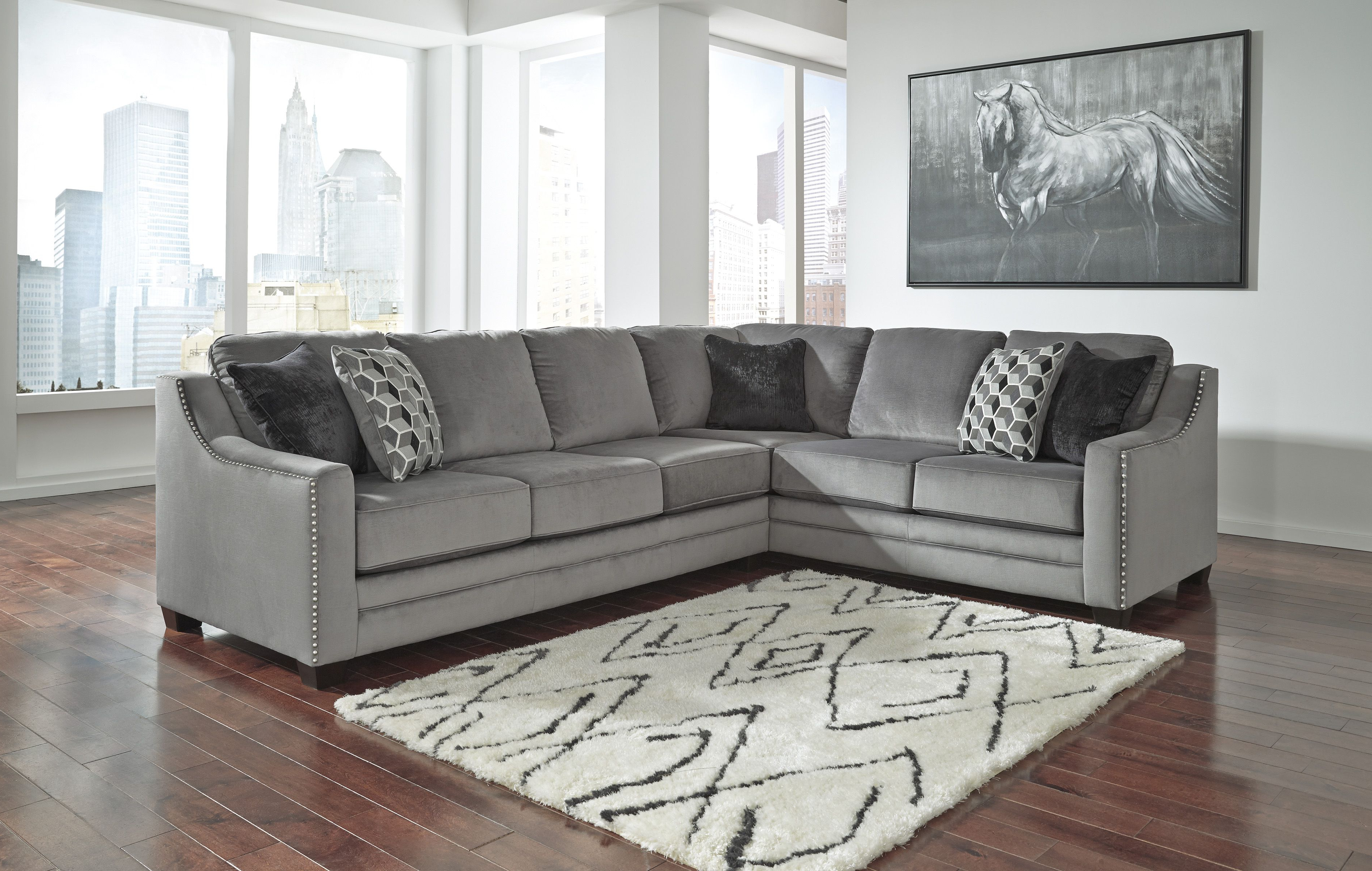 Turdur 2 Piece Sectionals With Laf Loveseat With Best And Newest Bicknell Charcoal 86204 48 Ashley Sectional Sofa (View 16 of 20)