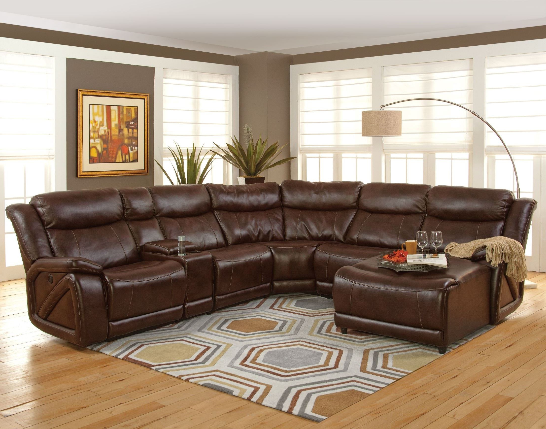 Turdur 3 Piece Sectionals With Raf Loveseat Inside Fashionable Park Place Premier Brown Laf Sectional From New Classics (20 225 17l (View 6 of 20)