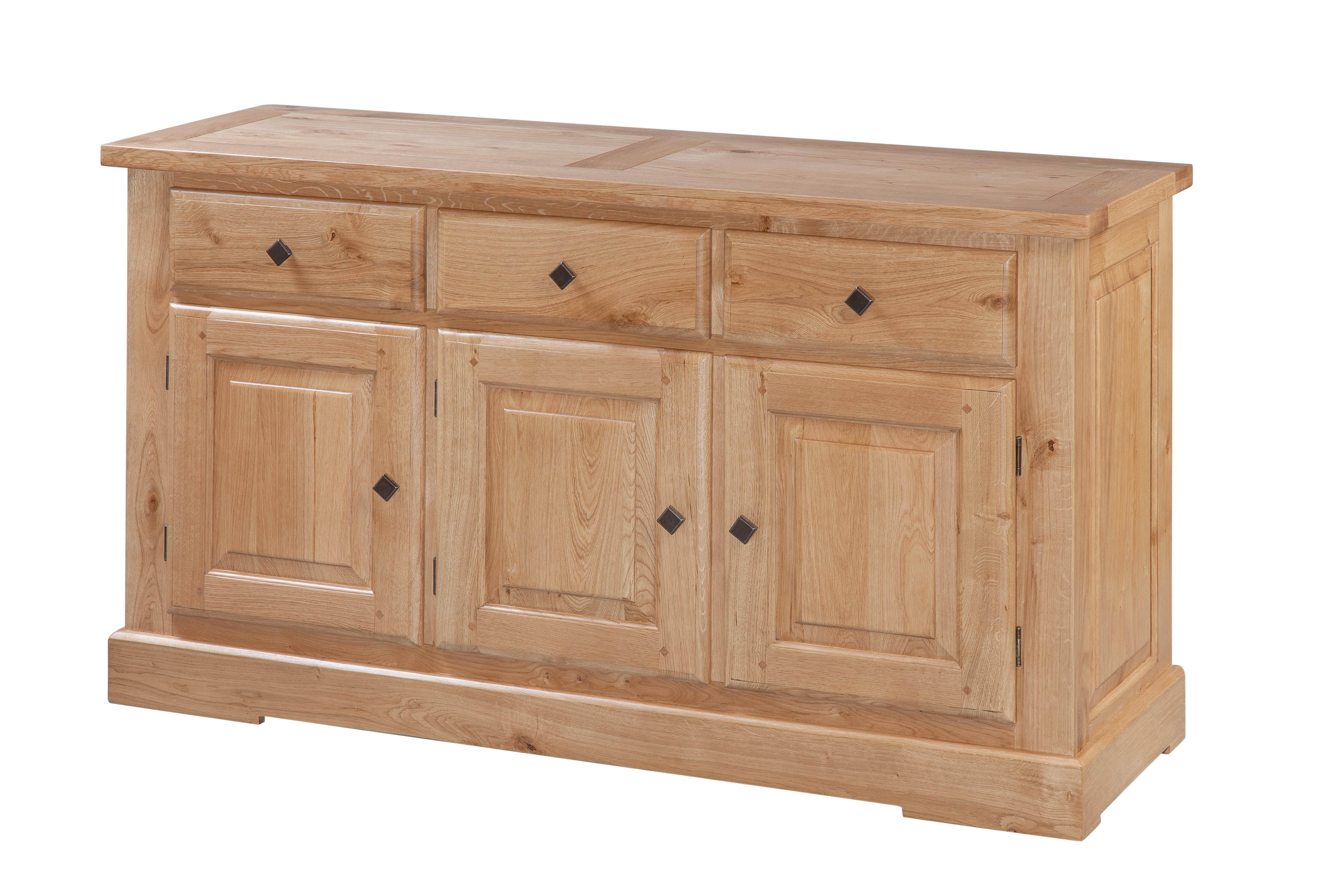 Tuscany 3 Door 3 Drawer Sideboard (66 06) – Papaya Trading In Best And Newest Square Brass 4 Door Sideboards (Gallery 1 of 20)
