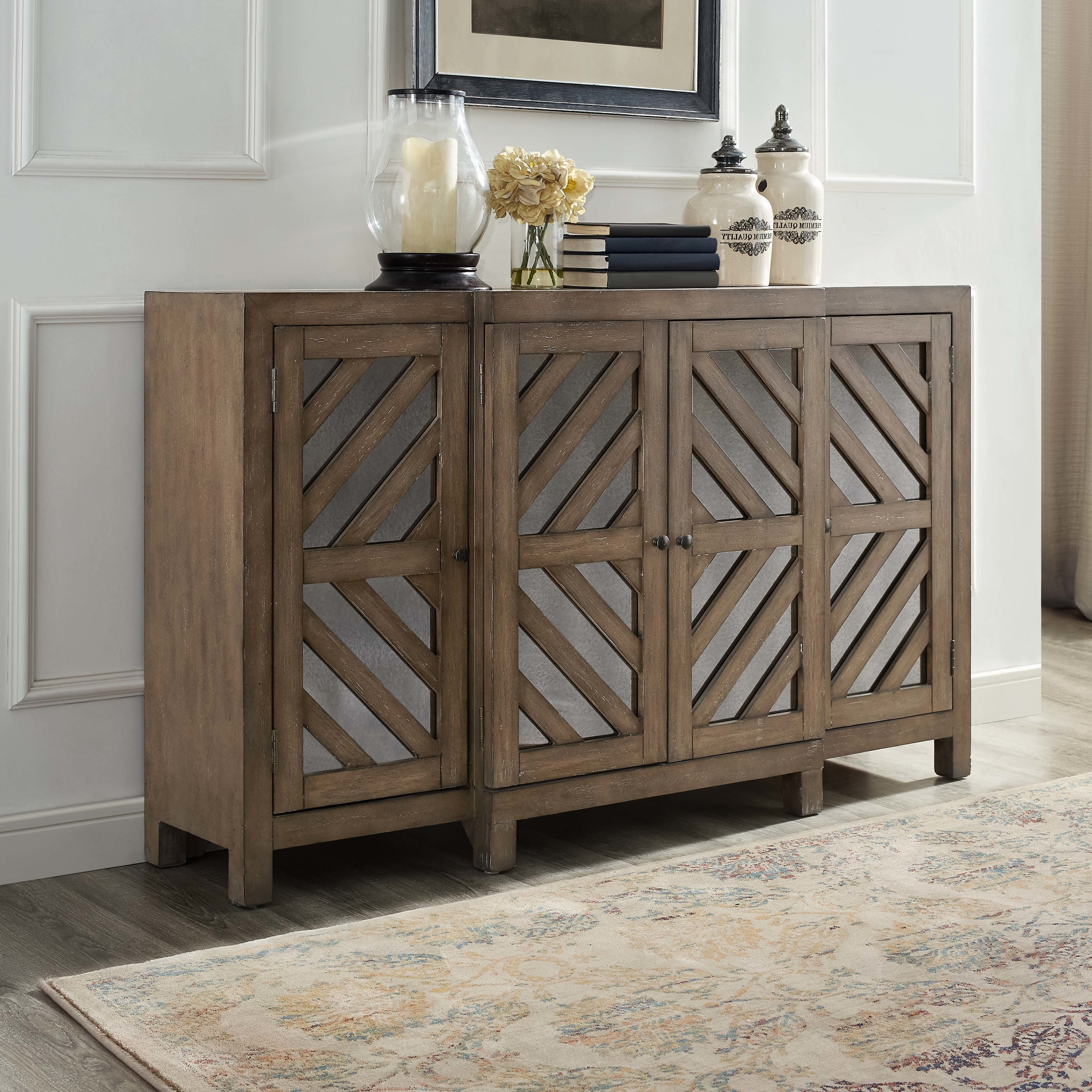 Union Rustic Lowrey 4 Door Credenza & Reviews (View 18 of 20)