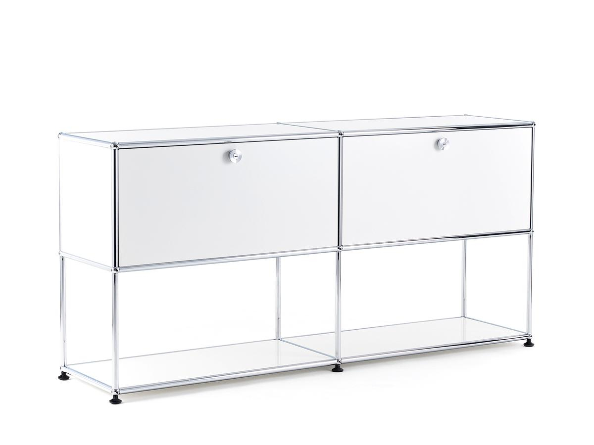 Usm Haller Sideboard L With 2 Drop Down Doors, Lower Tier Structure In Widely Used Girard 4 Door Sideboards (View 11 of 20)