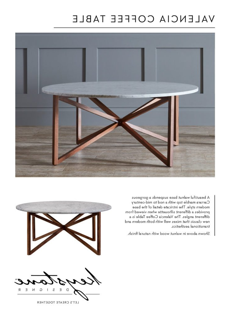 Valencia Coffee Table – Keystone Designer Inside Trendy Suspend Ii Marble And Wood Coffee Tables (Gallery 19 of 20)