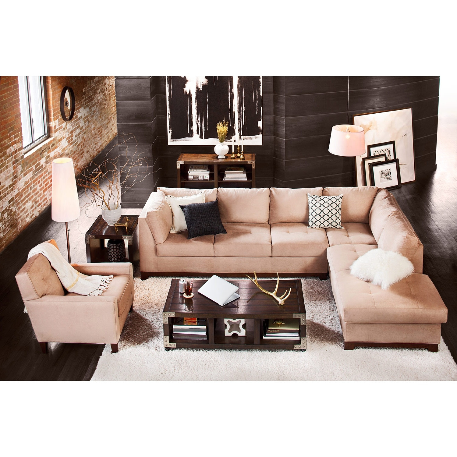 Value City Furniture And Mattresses Regarding Arrowmask 2 Piece Sectionals With Sleeper & Right Facing Chaise (View 5 of 20)