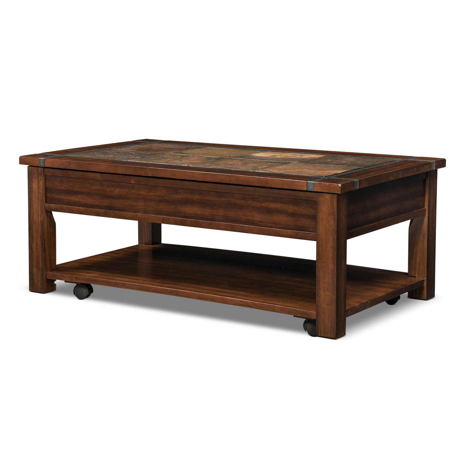 Value City Intended For Fashionable Reclaimed Pine & Iron Coffee Tables (View 19 of 20)