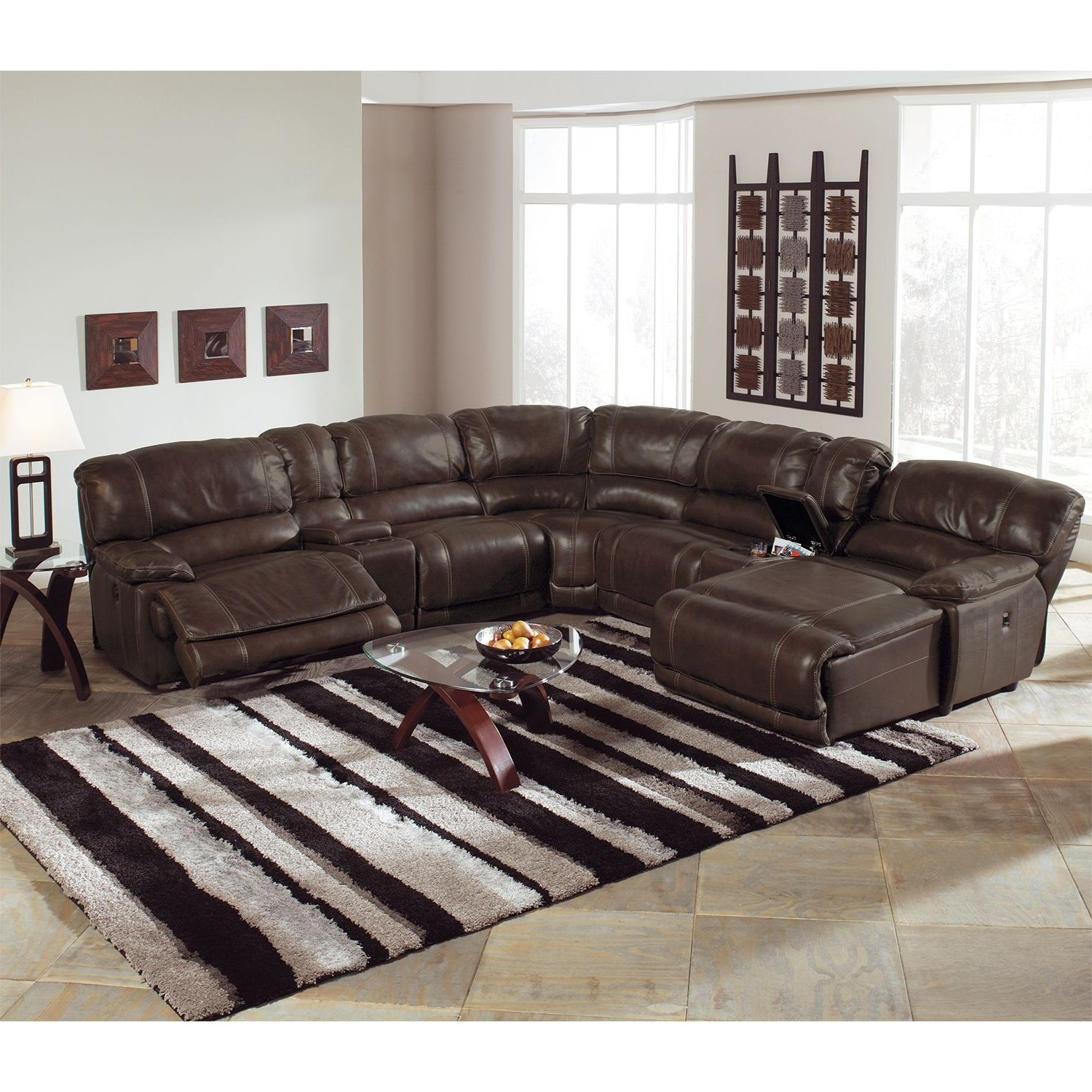Value City With Jackson 6 Piece Power Reclining Sectionals With  Sleeper (View 18 of 20)