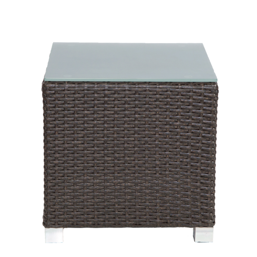 Venice Cube Side Table Brown Patio Heaven End Front White Gold Brass Throughout Current Brass Iron Cube Tables (View 18 of 20)