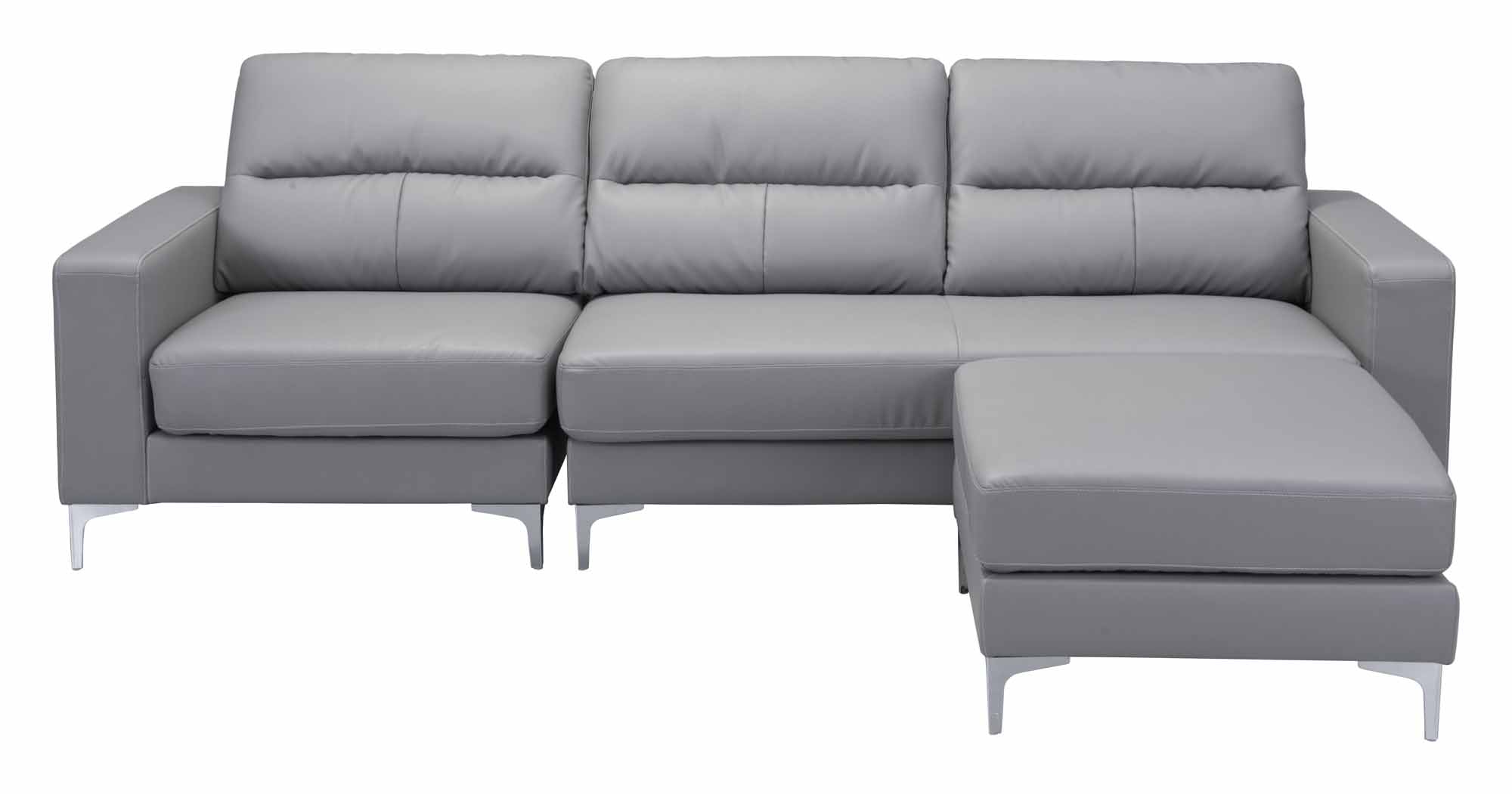 Versa Sectional Grayzuo Modern Inside 2018 Marius Dark Grey 3 Piece Sectionals (View 18 of 20)