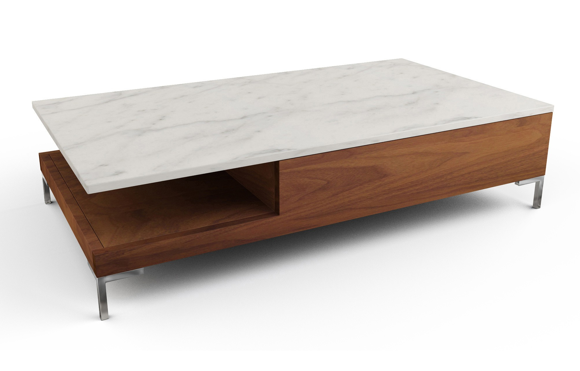 Viesso Within 2 Tone Grey And White Marble Coffee Tables (Gallery 17 of 20)