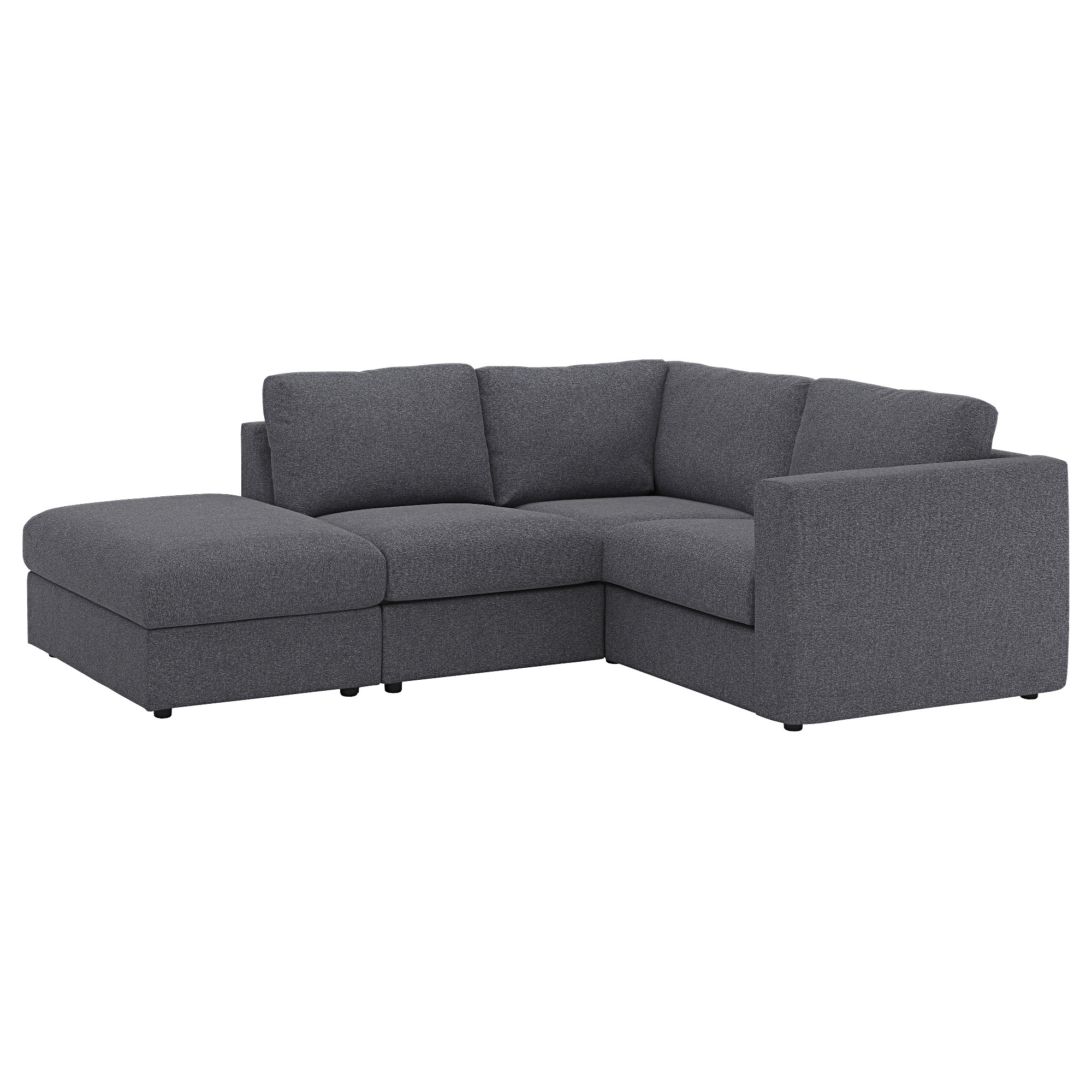Vimle Sectional, 3 Seat Corner – With Open End/gunnared Medium Gray Regarding Most Current Haven 3 Piece Sectionals (Gallery 7 of 20)