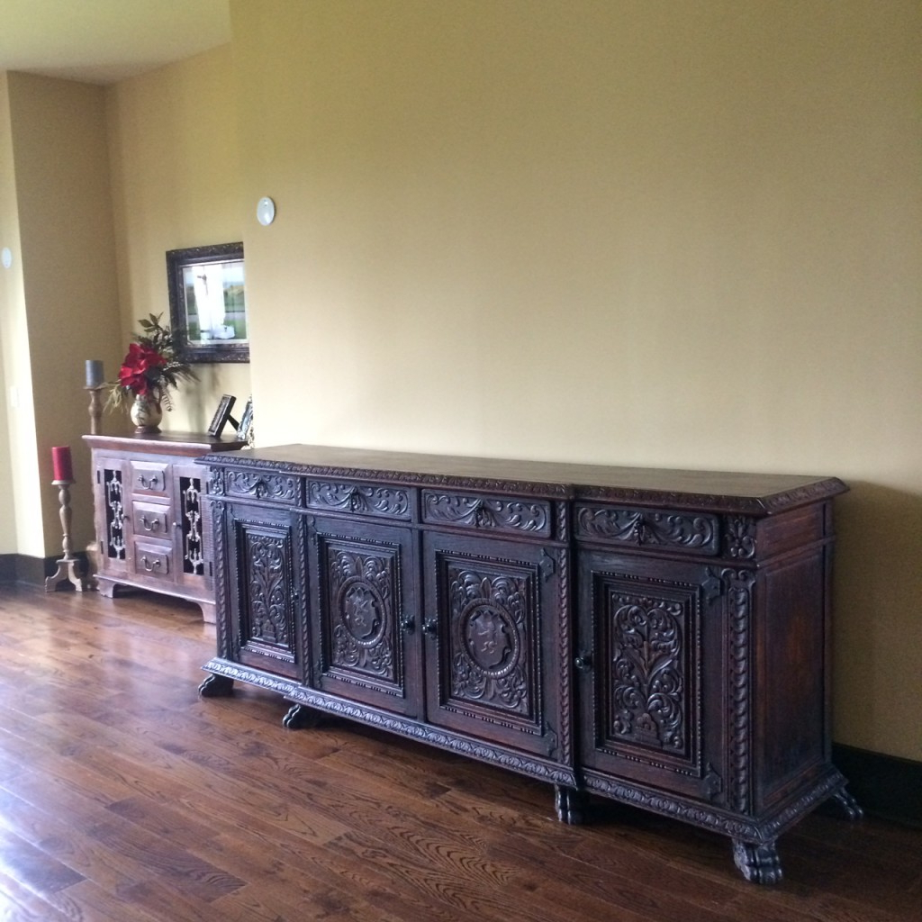 Vintage 8 Glass Sideboards Inside Newest Antique Sideboard Buffet In Our Home — Rocket Uncle Rocket Uncle (View 15 of 20)