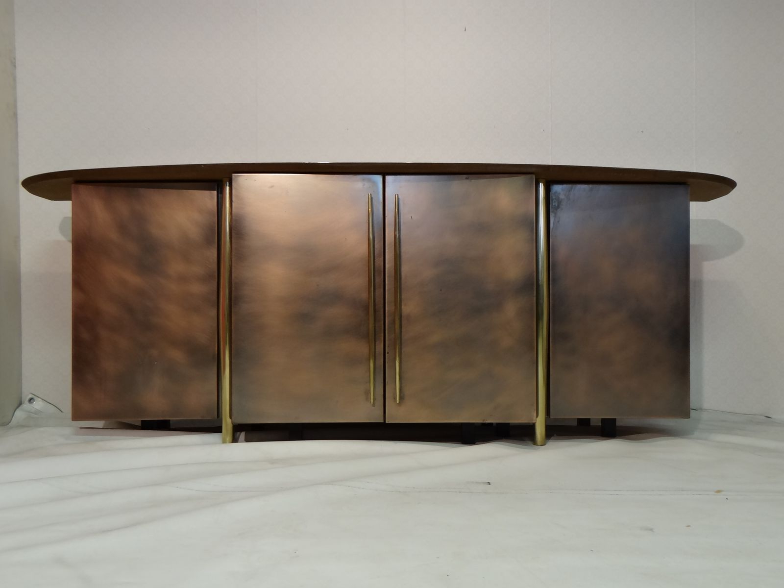 Vintage Brass Sideboard From Belgo Chrom For Sale At Pamono With Current Aged Brass Sideboards (View 13 of 20)