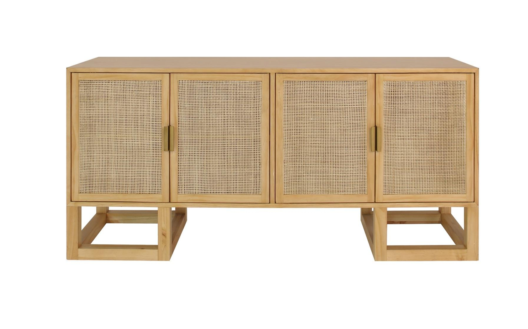 Vintage Brown Textured Sideboards For Most Recently Released Stockholm Buffet, Contemporary Cane Sideboard In A Modern Vintage (Gallery 17 of 20)