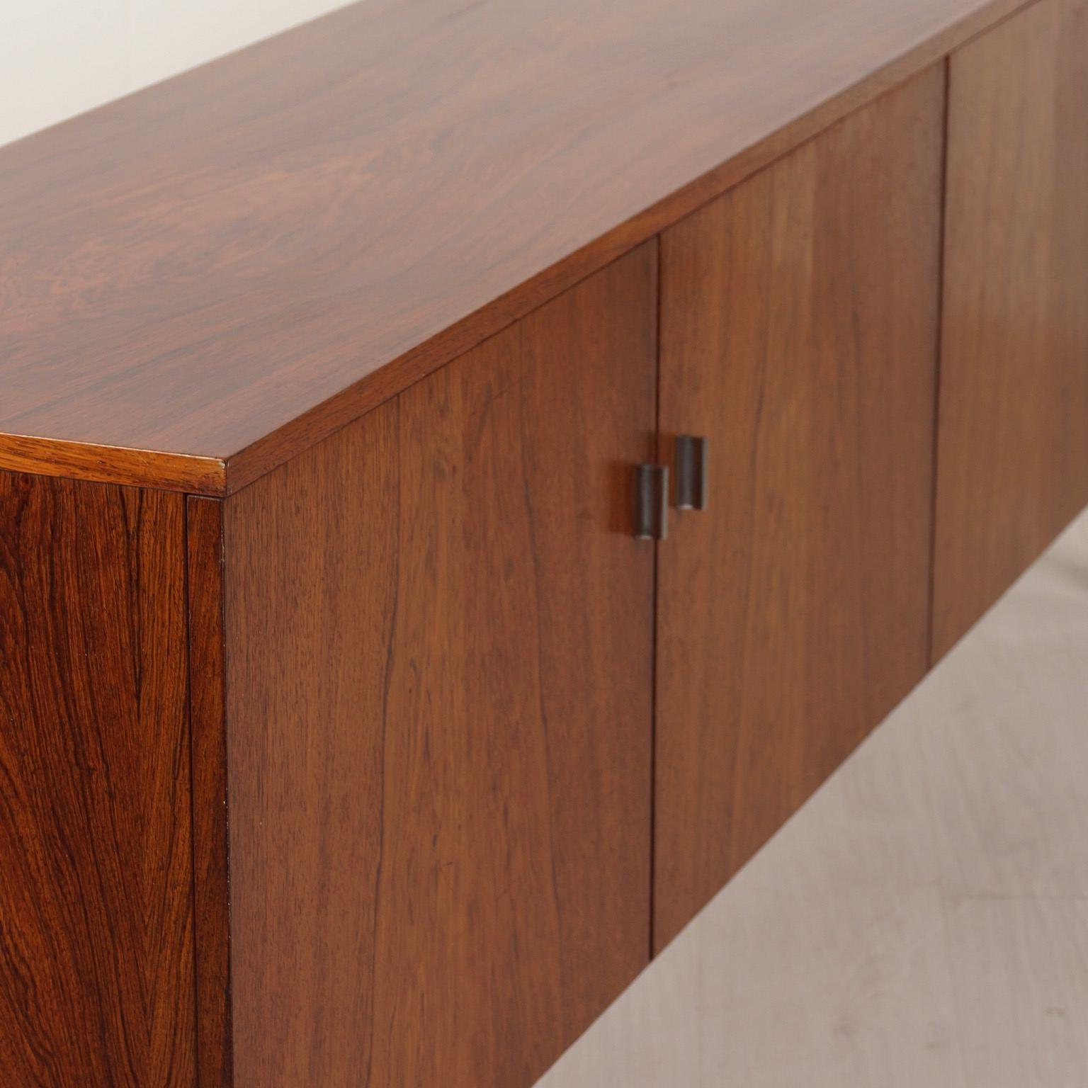 Vintage Brown Textured Sideboards Inside Popular Vintage Sideboard Made Of Rosewood, 1960s – Ztijl Design (View 15 of 20)