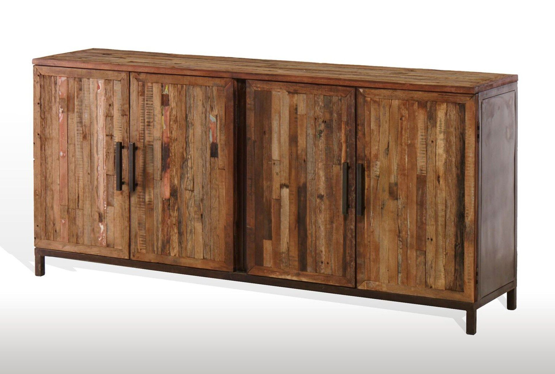 Featured Photo of Vintage Finish 4 Door Sideboards
