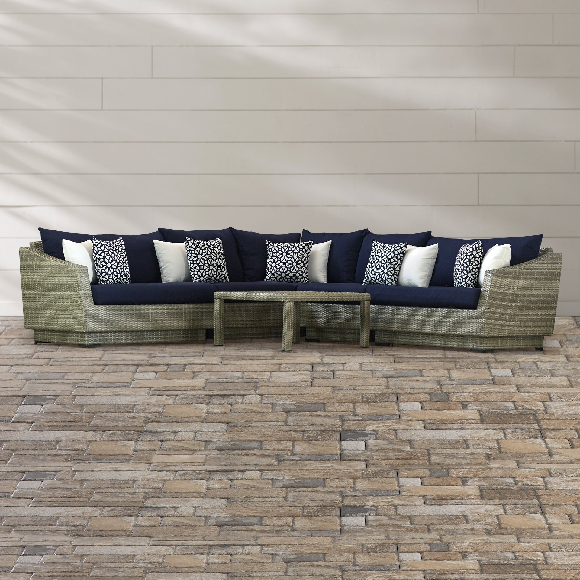 Wade Logan Castelli 6 Piece Sectional Set With Cushions & Reviews In Most Popular Karen 3 Piece Sectionals (View 20 of 20)