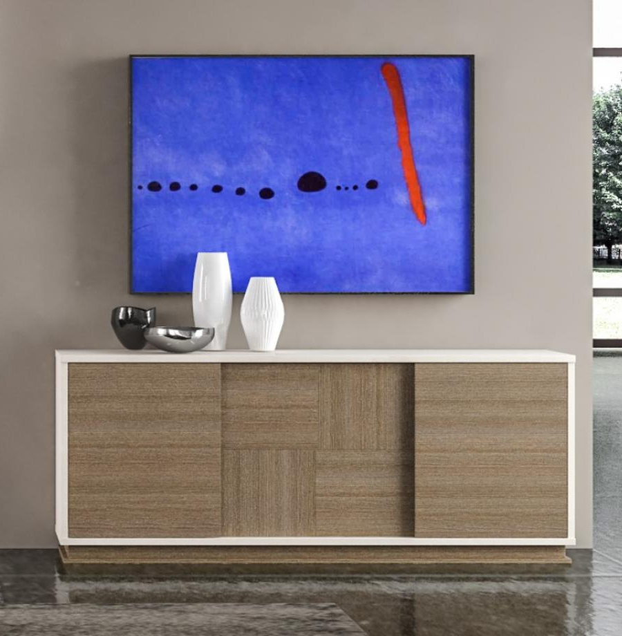 Walnut Finish Contempo Sideboards Inside Well Known Contemporary Evolution Sidebeoard (View 15 of 20)