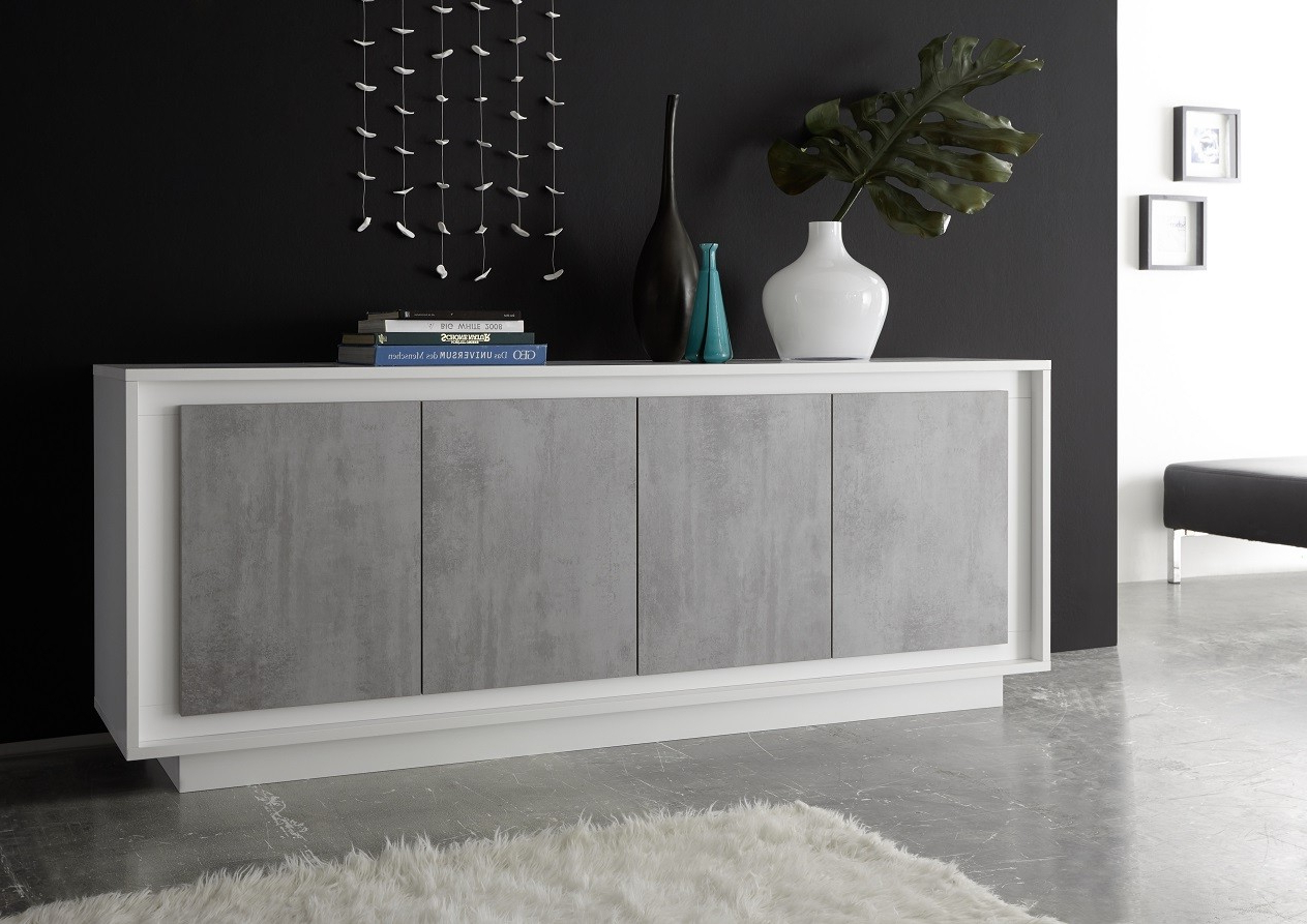Walnut Finish Contempo Sideboards Within Newest Modern Sideboards Uk (82) – Sena Home Furniture (Gallery 12 of 20)