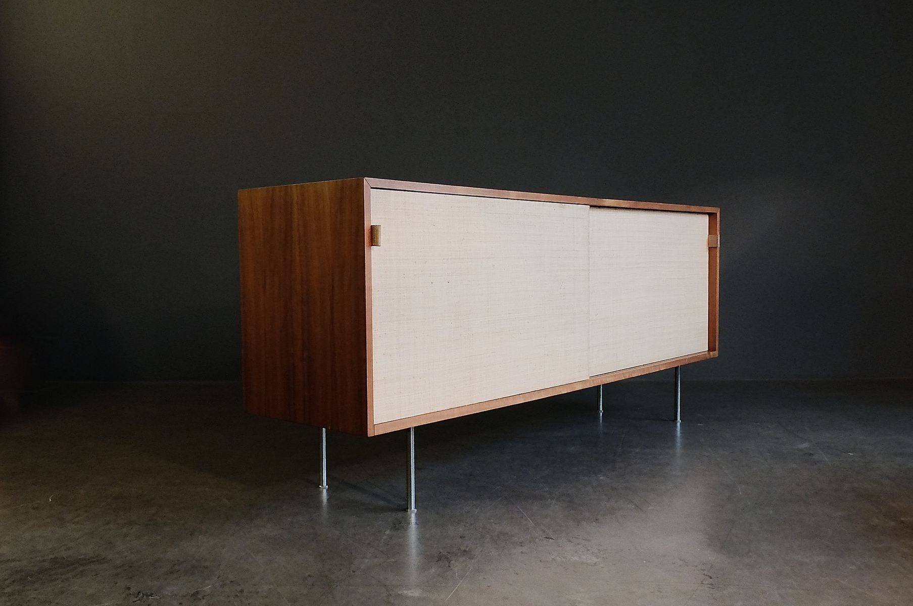Walnut & Seagrass Sideboardflorence Knoll For Knoll, 1960S For Intended For Widely Used Girard 4 Door Sideboards (View 17 of 20)