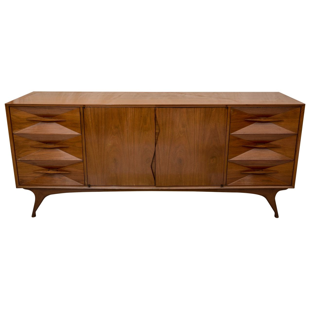 Walnut Sideboard, Mid For Solar Refinement Sideboards (View 17 of 20)