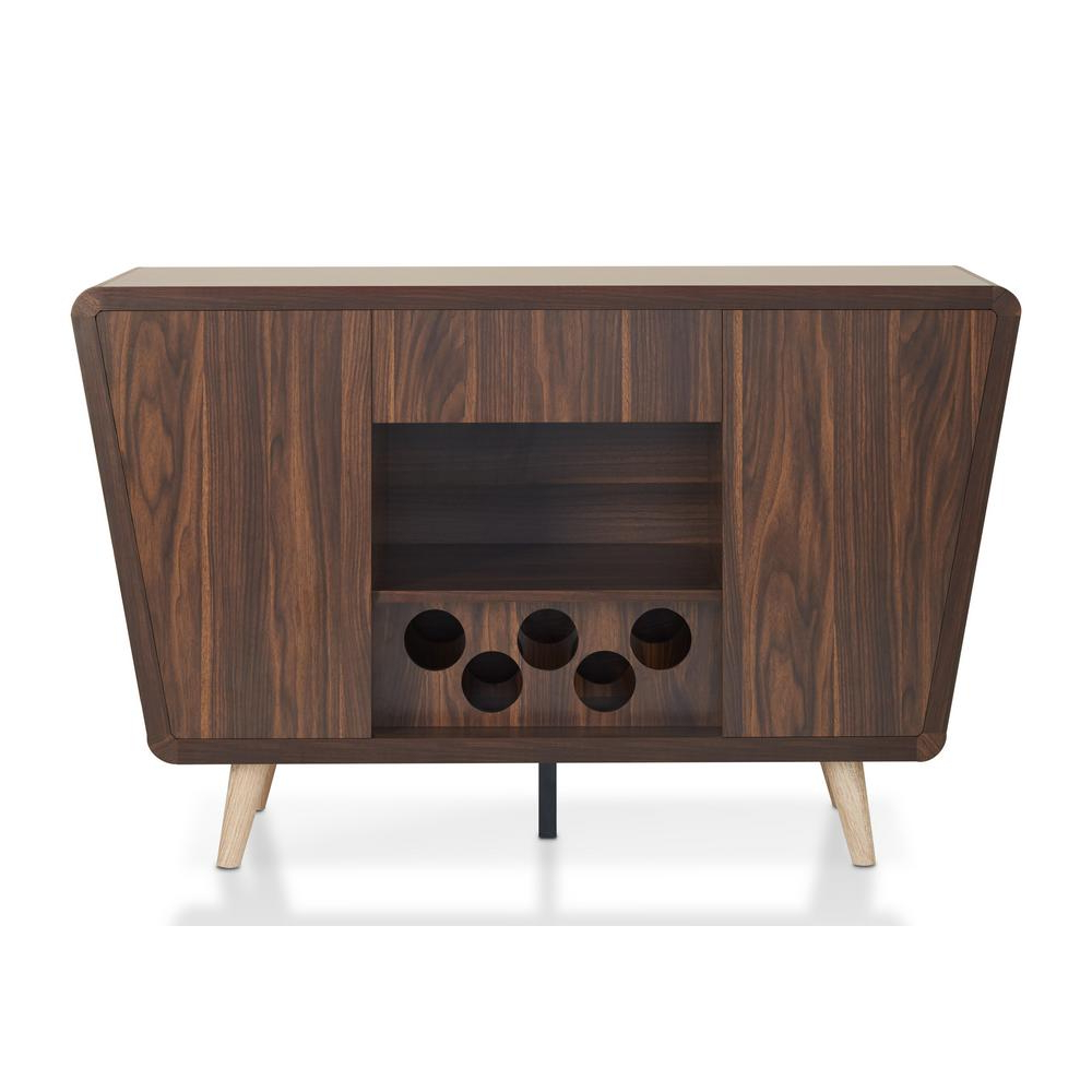 Walnut Small Sideboards With Newest Furniture Of America Celvin Dark Walnut Buffet Idi 161549 – The Home (View 17 of 20)