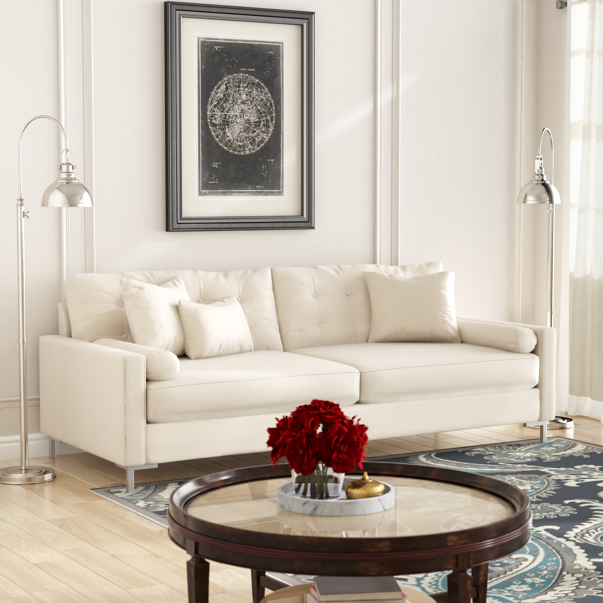 Wayfair Custom Upholstery™ Harper Sofa With Metal Legs & Reviews With Regard To Newest Harper Down 3 Piece Sectionals (View 15 of 20)