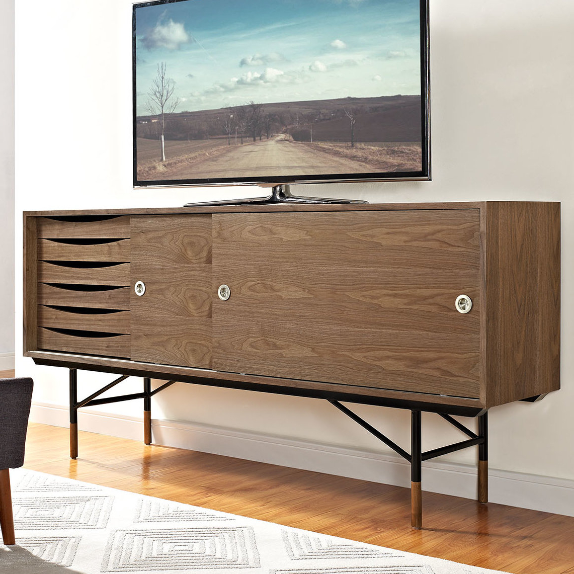 Wayfair For Mid Burnt Oak 71 Inch Sideboards (Gallery 15 of 20)