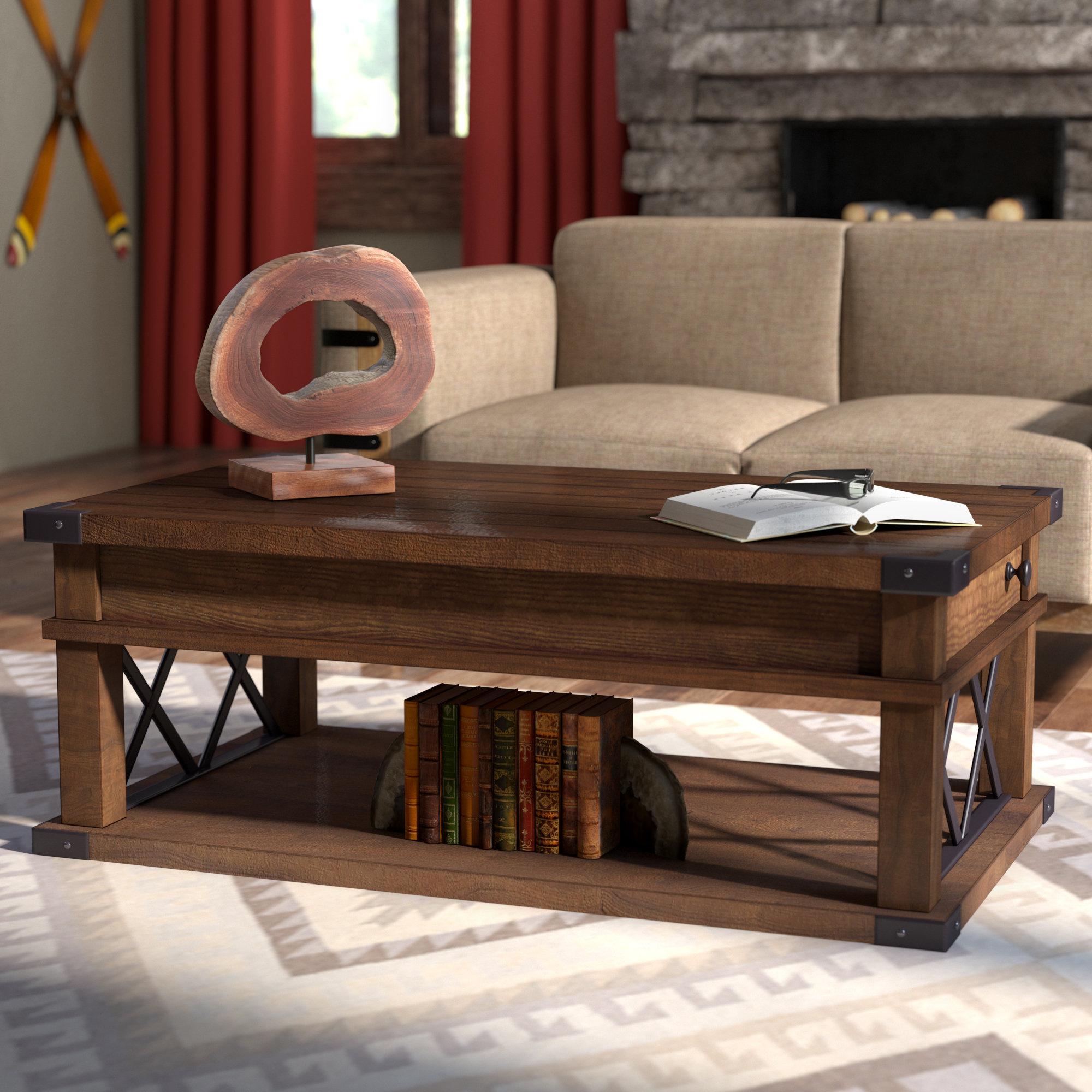 Wayfair In Trendy Large Scale Chinese Farmhouse Coffee Tables (View 12 of 20)