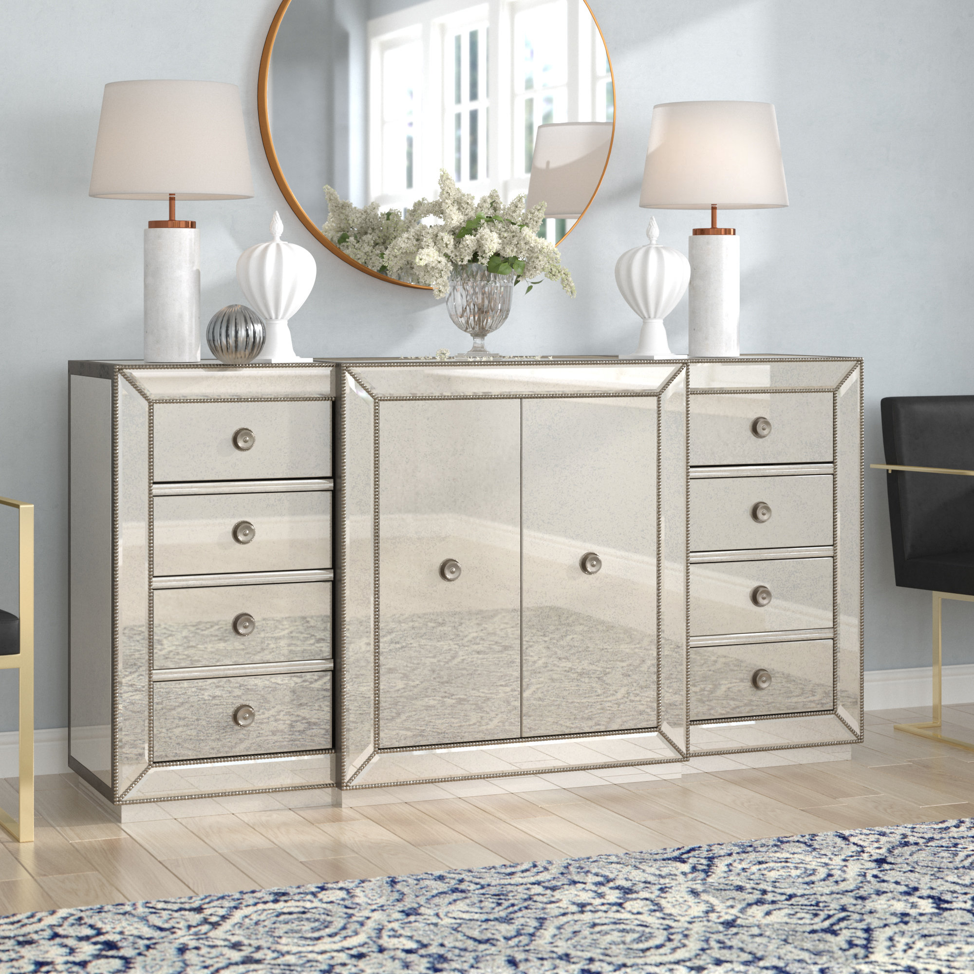 Wayfair Regarding Aged Mirrored 2 Door Sideboards (View 19 of 20)