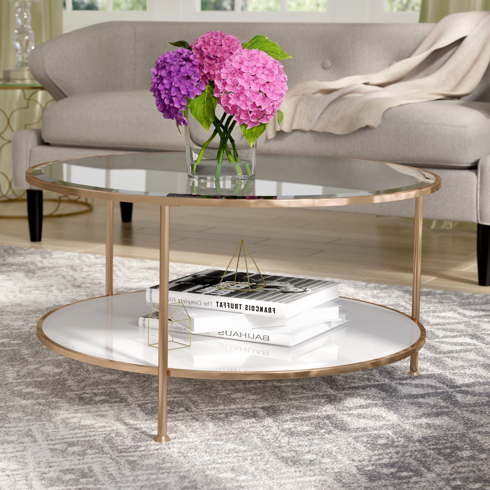 Wayfair Regarding Most Recent Round White Wash Brass Painted Coffee Tables (Gallery 11 of 20)
