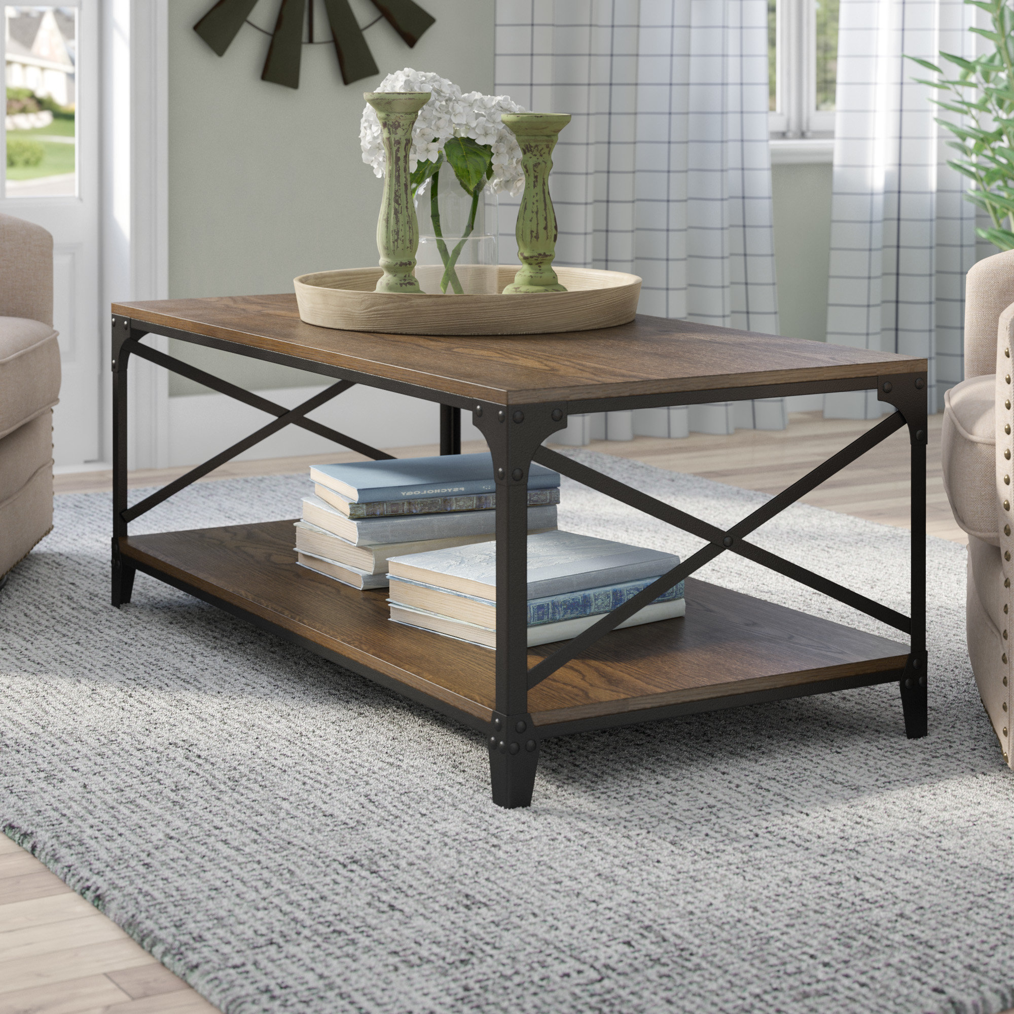 Wayfair Throughout Well Liked Large Scale Chinese Farmhouse Coffee Tables (View 14 of 20)
