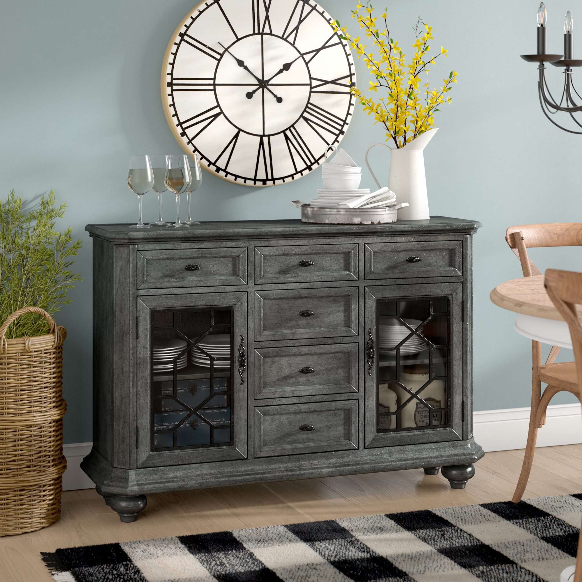Wayfair Within Iron Pine Sideboards (Gallery 8 of 20)
