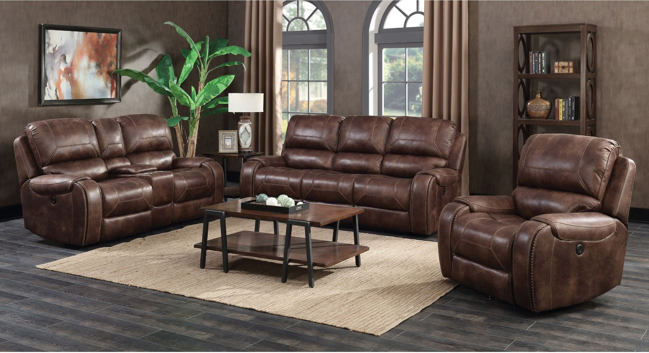 Waylon 3 Piece Power Reclining Sectionals For Preferred Jennings Waylon Mocha Power Reclining Living Room Set From Prime (View 2 of 20)