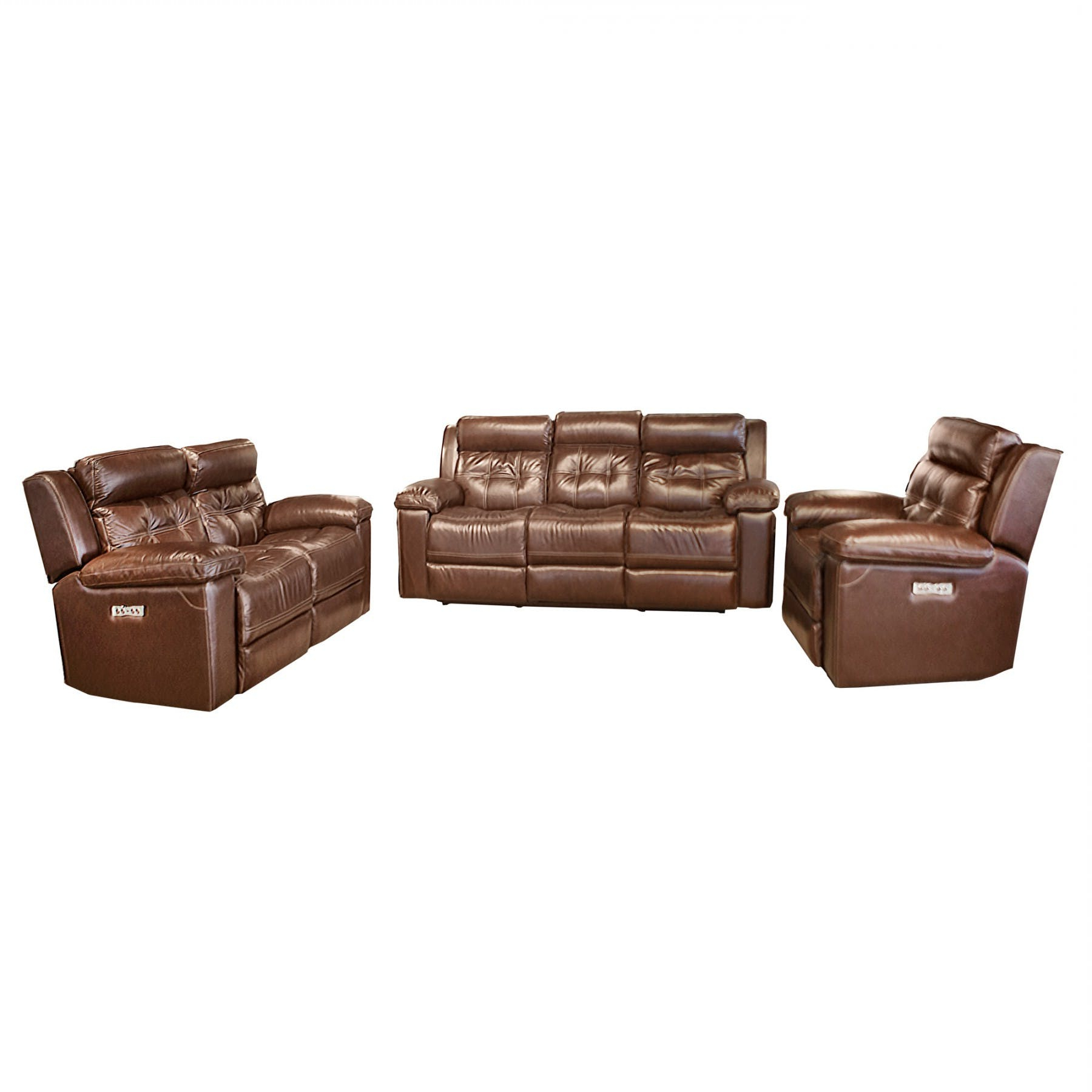 Waylon 3 Piece Power Reclining Sectionals Intended For Famous Archer Davenport Power Reclining Sofa With Power Headrest – Bernie (View 19 of 20)