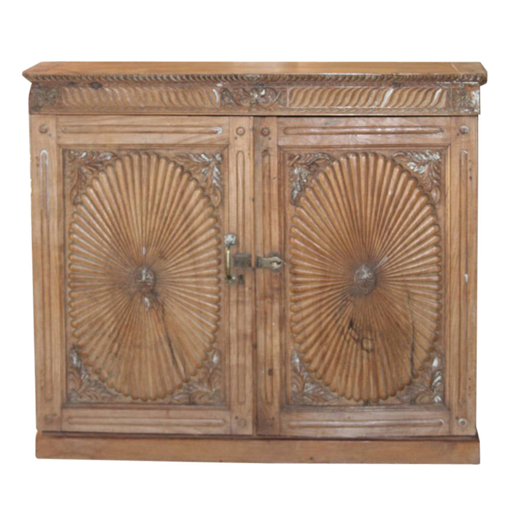Well Known 2 Door/2 Drawer Cast Jali Sideboards With Antique Teak Sunburst Buffet Cabinet Carved Cabinet Antique (View 19 of 20)