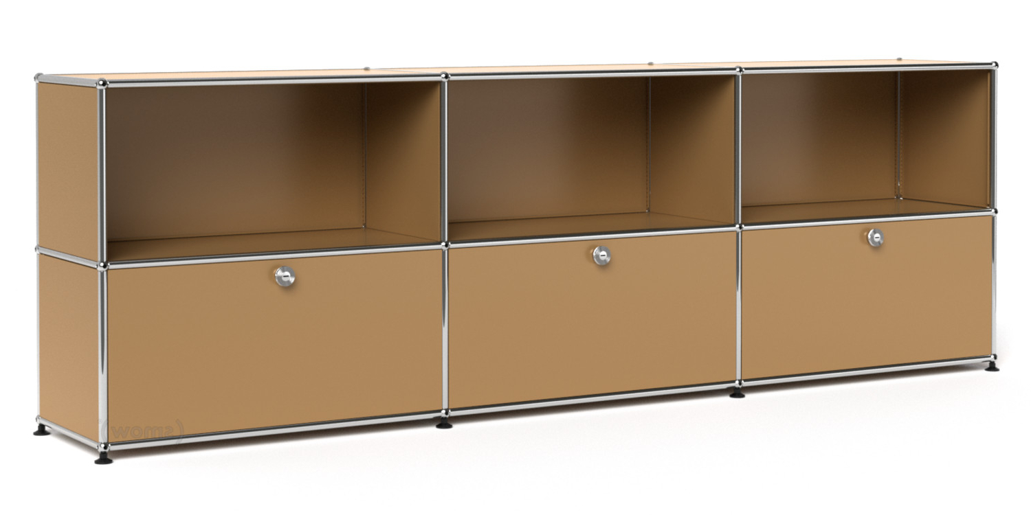 Well Known 4 Door 4 Drawer Metal Inserts Sideboards For Usm Haller Sideboard Xl, Customisable, Usm Beige, Open, With 3 Drop (View 13 of 20)